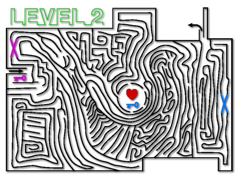 a lovely maze with a very long solution